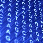 ATCG Code on a blue screen